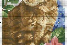 Mozaik goblen kedi