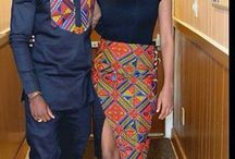 African couple wears