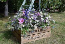 Wedding table plans / Personalised wedding table plans from Milton Keynes florist