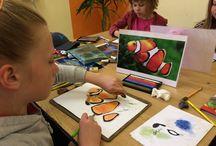 Színes ceruzás gyerek rajzok