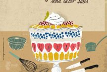 Illustration : : Food / Illustrations and designs on these themes: food, deserts, recipes, cooking, kitchen, eating.