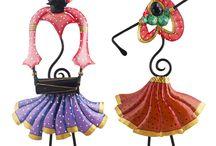 Decorative Wrought Iron Dancing Couple