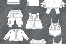 kids flat fashion sketch