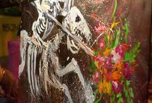 Students & Art at Seven Arrows - El Dia de los Muertos