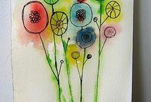1.  Watercolour
