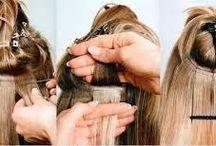 extensiones de cabellos