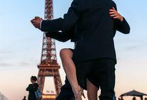 Tango / Séance de Tango sur l'esplanade du Trocadéro, dans le cadre des animations Octobre Rose. Le 28 septembre 2015 à 20h20, la Tour Eiffel se parera de rose en signe de soutien au mois d'Octobre Rose, grand moment annuel de mobilisation et d'information autour du cancer du sein et du dépistage.