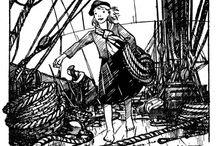 Filles / Joubert dessinait aussi les guides, les aventurières ...