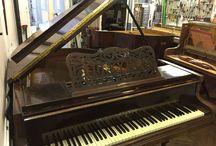 Pianos Pleyel / Quelques modèles de pianos Pleyel restaurés dans notre atelier.