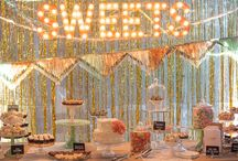 Wedding: the cake table