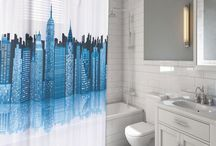 Bathroom Decor / Fabric shower curtains and vinyl shower curtains are the easiest way to transform your bathroom.  We also have great shower liners to protect your shower curtains.