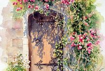 Akvarel døre