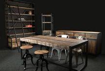 Industrieel / Industriele inspiratie voor de showroom op de opendag