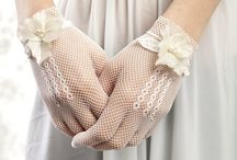 love you wedding gloves
