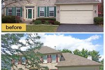 Garage Door Makeovers / Before and after garage door pictures.  Amazing what a difference a garage door can make.