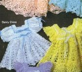 Crochet baby dresses and sandals