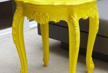 Bright colour furniture
