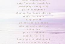 Bucket List  / by Ashley Pena