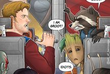 """Guardians of the Galaxy / Rocket:""""Why would you want to save the galaxy?!"""" Peter:""""Because I'm one of the idiots who live in it!"""""""