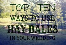 Hay Bales for Weddings / This wedding trend is fun and affordable. Make the most of this rustic look using hay bales for your wedding.