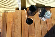 Instalación de tarima de madera en una terraza de Sant Andreu de Llavaneres