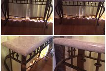 Antiques / Marble console table