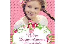 Çilek Kız Doğum Günü Ürünleri / Çilek Kız Kişiye Özel Parti Malzemeleri
