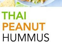 Hummus, guacamole a pomazánky