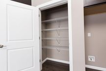 Pantries & Closet storage / Pantry and Linen closets come with 4 wire shelves as a standard.