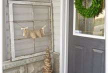 Our Christmas Home Tour / House tour, christmas tour, french country christmas decor, Neutral holiday Home decor, burlap, jute, metallic accents, ticking stripe, wood and white. farmhouse christmas. christmas inspiration. christmas decorating. Christmas decor ideas.