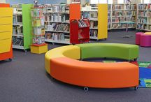 Library Furniture - Campbell Primary School / Library furniture and seating