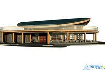 Centro Cultural Rapa Nui / El proyecto Centro Cultural Marae, emplazado en la Isla de Pascua, para la ONG Toki Rapa Nui, posee alrededor de 480 m2. Está inspirado  en un Hare Paenga, tipo de vivienda que poseía forma de barca invertida.