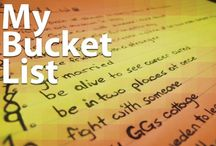 My Bucket List / Creating a bucket list is one of the best ways to make sure that you use your time and resources in order to accomplish and experience what you really want out of life. Get some great bucket list ideas. They may change your life forever :)