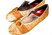Kookie / These shoes were created with a variety of interesting printed leathers and vintage bakelite trim buckles.