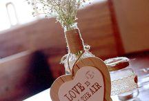Decor Valentine's Day / DiY, wedding, love, heart, flower, lace, jute