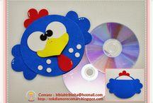 CD-Plate Crafts / cd-levystä askartelu