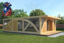 SunShine Glulam-Timber frame- Residential Park Home / If you are looking for a quality Park Homes-Timber Frame Building fully insulated cabins. www.logcabins.lv