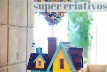 Bolos decorados super criativos! / Veja + Inspirações e Dicas de decoração no blog!  www.construindominhacasaclean.com