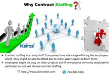 Contract Staffing / Hire highly skilled and experienced professionals to meet your short term talent needs. We contact people for a minimum of two months.
