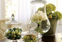 Decoração com vidro