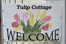 COTTAGE OF TULIPS / LADIES, WELCOME TO TULIP COTTAGE.   LET'S DECORATE OUR COTTAGE  WITH BEAUTIFUL , ASSORTED TULIPS, INSIDE AND OUT. ANYTHING WITH A TULIP  MOTIF WOULD BE GREAT THANK YOU FOR JOINING.❤ PLEASE LIMIT PINS TO 5 PER DAY.