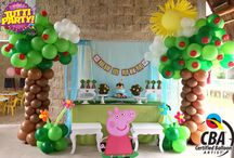 Peppa pig balloons idea