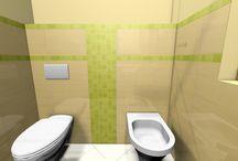 Fürdőszoba látványterveim / Fürdőszoba látványtervek. Tervek amiket ügyfeleimnek késztettem. Bathroom 3D plans.