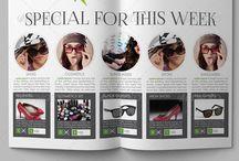 Fashion Brochure Template / Fashion Catalog Template for Fashion Shops