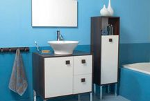Salles de bain bleues / Voici quelques idées pour aménager une salle de bain de couleur bleue.