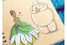 baymax and disney princesses