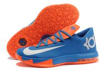 Nike KD VI (6) Men's Shoes Blue/Orange