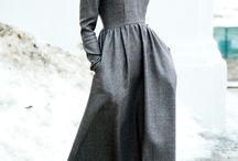 теплые платья, юбки в пол