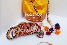 gota+yellow 'bangles / handmade gota jewelry