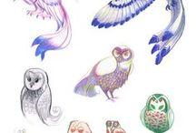 フクロウの絵